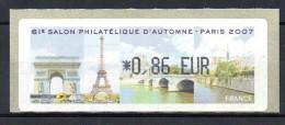 Vignette LISA  61e Salon D'automne Paris 2007 - 1999-2009 Illustrated Franking Labels