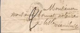 LETTRE PRECURSEUR D'AVIGNON A L'ISLE SUR LA SORGUE DU 18/06/1844 - Marcophilie (Lettres)