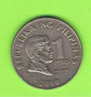FILIPINAS - PHILIPPINES -  1 Piso 2000   KM269 - Filipinas