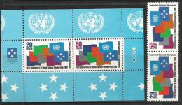 Entrée Des ìles De Micronésie Aux Nations-Unies.  Serie + BF Neufs ** - Micronésie
