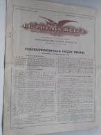 Verzekeringspolis Tegen BRAND Le Phénix Belge N° 343.825 Deurne Van Amstelstraat 86 - 1949 ( Details Zie Foto ) ! - Bank & Insurance