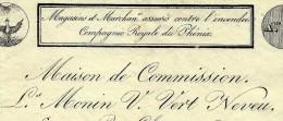 LETTRE DE VOITURE ROULAGE L.MONIN V.VERT NEVEU LYON BEAUCAIRE ANNONAY 1833 B.E.V.SCANS - France