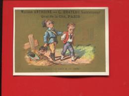 ANTHOINE FABRIQUE PAINS EPICES  BRATEAU  CHROMO OR PROVERBE  SAINTS GENDARME VOLEUR POULE  CALENDRIER 1880 - Sin Clasificación