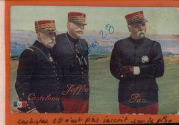 CHROMOS    PERSONNAGES CELEBRES   Général De CASTENAU  JOFFE  PAU     Mars  2014 Div 429 - Personnages