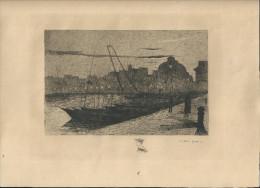 Six Dessins Anciens à La Plume Le Havre. - Dessins