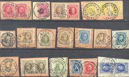 _W607: Uitgezocht: HOUGAERDE, ROCHE-EN-ARDENNE, LEDEBERG, 10 ANTWERPEN, BLANDAIN, EECLOO, EYNE, NIEUWKERKEN(WAAS), POPER - 1922-1927 Houyoux