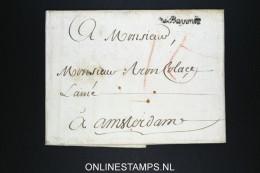 France 1772  Cover Enveloppe Avec Cachet Bayon RR A Amsterdam  Hollande - 1701-1800: Précurseurs XVIII