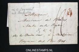 """France Lettre 1819 Coquerel Paris To Amsterdam  """"sur Le Buiten Kant """" - Postmark Collection (Covers)"""