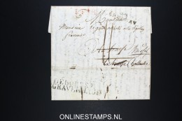 France Lettre 1821  49 Épernay A La Haye Hollande  Débourse 's Gravenhage - 1801-1848: Précurseurs XIX