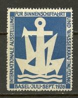 Schweiz Reklamemarke 1926 Ausstellung Schifffahrt Basel - Schweiz