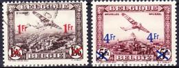 BELGIQUE POSTE AERIENNE 1935 YT N° PA 6 Et PA 7 Obl. - Aéreo