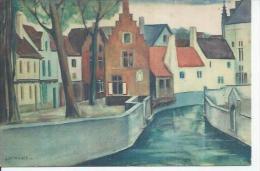 QUAI DE LA SENNE  ( Déssin:  J. WINANCE ) Carte Officielle De L'Exposition De BRUXELLES 1935 - Other Illustrators