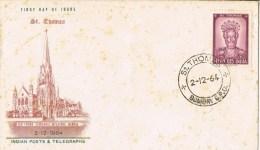 12022. Carta F.D.C. St. THOMAS (Bombay G.P.O) India 1964 - FDC