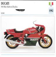 1982 - FICHE TECHNIQUE MOTO - DÉTAIL COMPLET À L´ENDOS - DUCATI 900 MIKE HAILWOOD REPLICA - SPORT - ITALIE - Motor Bikes