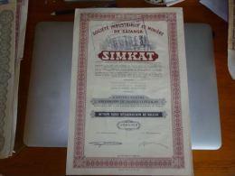 AA2 Titre Société Industrielle Et Minière Du Katanga Simkat - A - C