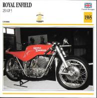 1965 - FICHE TECHNIQUE MOTO - DÉTAIL COMPLET À L´ENDOS - ROYAL ENFIELD 250 GP5 - COURSE - GRANDE BRETAGNE - Motor Bikes