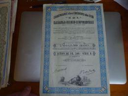 AA2 Titres Compagnie Des Chemins De Fer - Katanga - Dilolo - Leopoldville - 1944 - Actions & Titres