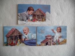 LOT 3 CARTES....JEUNES ENFANTS ET CRECHES...JOYEUX NOEL... - Non Classés