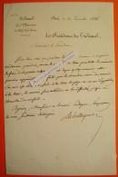 L.A.S 1836 LM De BELLEYME Président Tribunal Seine Préfet De Police De Charles X M Buji LE PUY Lettre Autographe Signée - Autographs