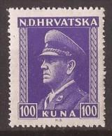 1943  128-47  KROATIEN HRVATSKA NDH CROAZIA   ANTE PAVELIC    MNH - Kroatien