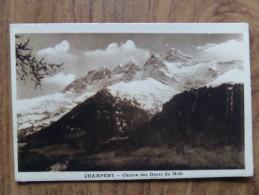 42191 PC: SWITZERLAND: VS-VALAIS: Champery - Chaine Des Dents Du Midi. - VS Valais