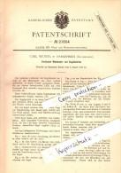 Original Patent - Carl Wenzel In Darkehmen , Ostpreussen , 1882 , Windmotor Mit Segelbetrieb , Osjorsk !!! - Ostpreussen