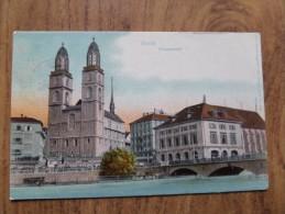 42212 PC: SWITZERLAND: ZH-ZURICH: Zurich - Grossmunster. - ZH Zürich