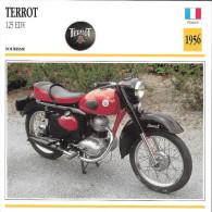 1956 - FICHE TECHNIQUE MOTO - DÉTAIL COMPLET À L´ENDOS - TERROT 125 EDV - TOURISME - FRANCE - Motor Bikes