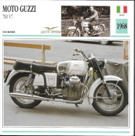 1968 - FICHE TECHNIQUE MOTO - DÉTAIL COMPLET À L´ENDOS - MOTO GUZZI 700 V7 - TOURISME - ITALIE - Motor Bikes