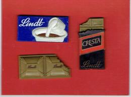 LOT DE 3 MAGNETS PUBLICITAIRES CHOCOLAT LINDT EN BON ETAT - Cioccolato