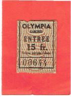 LOT 2 TICKETS D ENTREE AU CINEMA OLYMPIA DE GARCHES HAUTS DE SEINE - Tickets - Vouchers