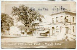 - Street Scène, Fort, Benton, Mont,  B-89, Rare, Real Photo, Non écrite, Glacée, TBE, Scans. - Etats-Unis
