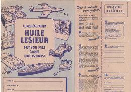 PROTEGE CAHIER PUBLICITE HUILE LESIEUR HISTOIRE D UNE BOUTEILLE - L
