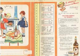 PROTEGE CAHIER PUBLICITE RHUM NEGRITA FABRIQUE A LA MARTINIQUE ET TRANSPORTE A BORDEAUX - Buvards, Protège-cahiers Illustrés