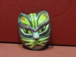f�ve masque chat  - s�rie les masques v�nitiens ann�e 1996 -  f�ves - rare