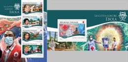 Togo 2014 Ebola Virus Red Cross Medicine MS+S/S TG14712 - Salud