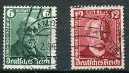 Deutsches Reich -  Mi. 604/605 (o) - Usados