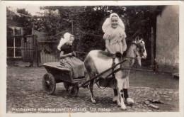 Sehr Seltene Fotokarte 1946 Zensuriert, 2 Mädchen Mit Ziegenbock Vor Wagen Gespannt, Walchersche Kleederdracht (Zeeland) - Niederlande