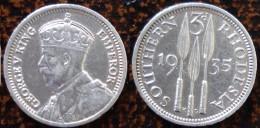 (J) SOUTHERN RHODESIA: Silver 3 Pence 1935 AU (1847)  SALE!!! - Rhodésie