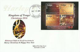 ton141101F Tonga 2014 Christmas s/s FDC