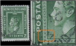 Newfoundland (King George-VI) 2c. (Sc # 245) Cancellation Error: The Year Inverted In The Date Cancellation (Used) - 1908-1947