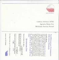 ITALIA  - Questionario P.TT - Test - Servizio  Prioritario - 6. 1946-.. Republik