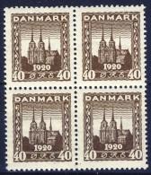 ##G1355. Denmark 1920. Reunion. Michel 112. MNH(**) Bloc Of 4. - 1913-47 (Christian X)