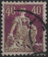 SUISSE SCHWEIZ SWITZERLAND Poste 123 (o) Helvetia Assise Avec Croix (1) - 1882-1906 Armoiries, Helvetia Debout & UPU