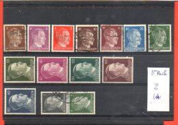 Allemagne 3eme Reich, Lot De Timbres, Lot N° 2, 14 Timbres - Collections