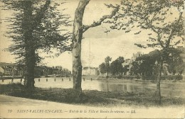 76 Seine Maritime SAINT VALERY EN CAUX Entrée De La Ville Et Bassin De Retenue Voyagée En 1919 - Saint Valery En Caux
