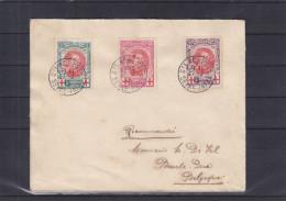 Belgique - Lettre De 1915 ° - Oblitération St Adress - Croix Rouge - Familles Royales - Albert Ier - Exp Vers Bar Le Duc - Belgique