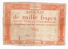 INTERESANT ASSIGNAT DE 1000 FRANCS ROUGE N° 10 - Assignats & Mandats Territoriaux