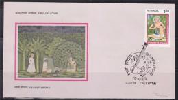 = Inde Enveloppe 1er Jour Calcutta 19 09 85 N°820 Swami Haridas Poète Spirituel Et Musicien Classique - FDC