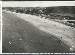 VIERVILLE - OMAHA BEACH - CPSM : Vue Aérienne De La Plage - Autres Communes